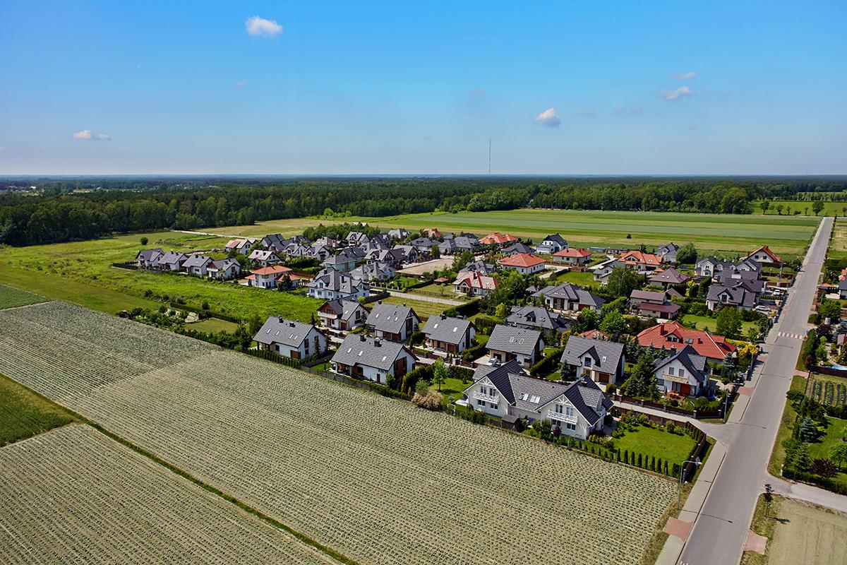Domy w okolicy Warszawy | Widok z lotu ptaka #5