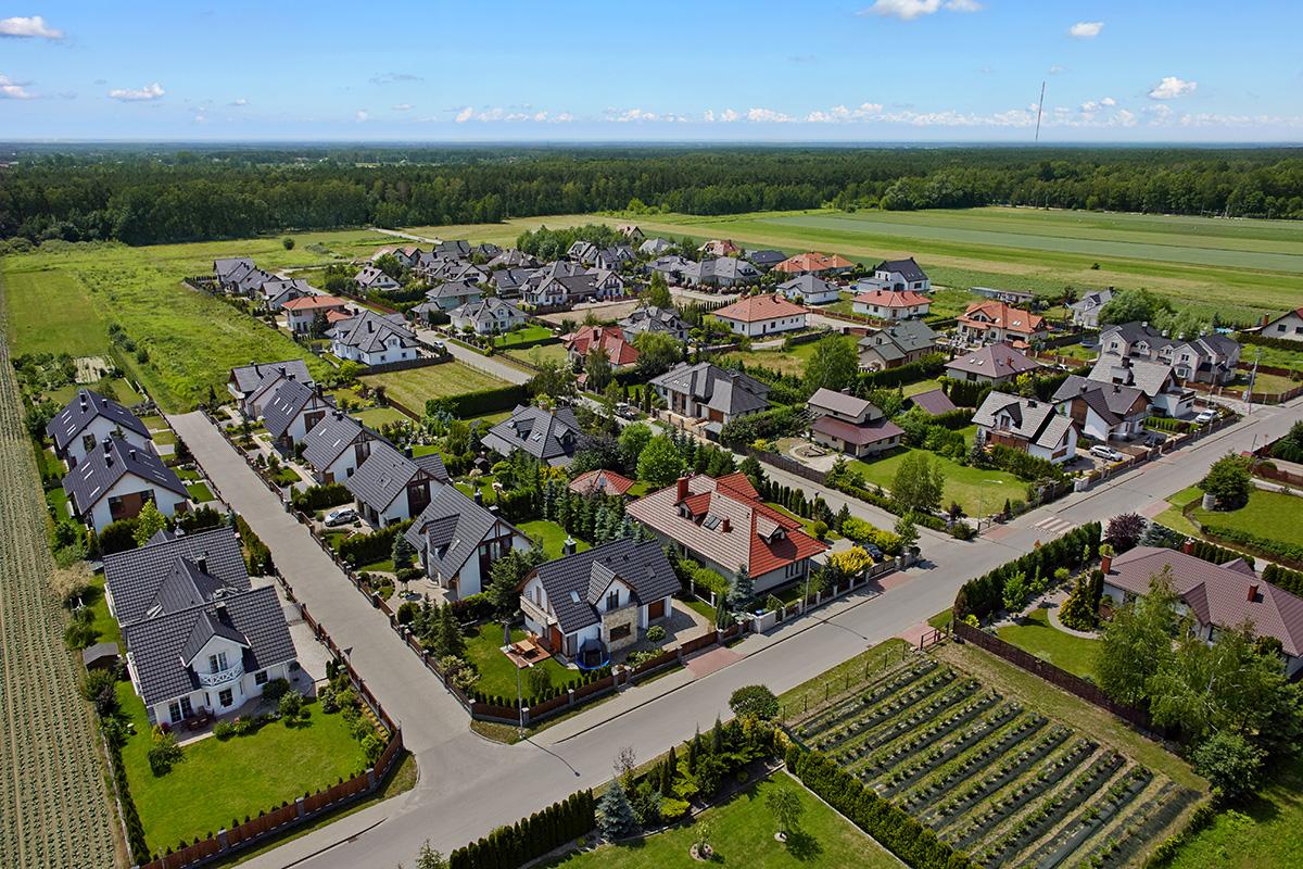 Domy w okolicy Warszawy | Widok z lotu ptaka #6