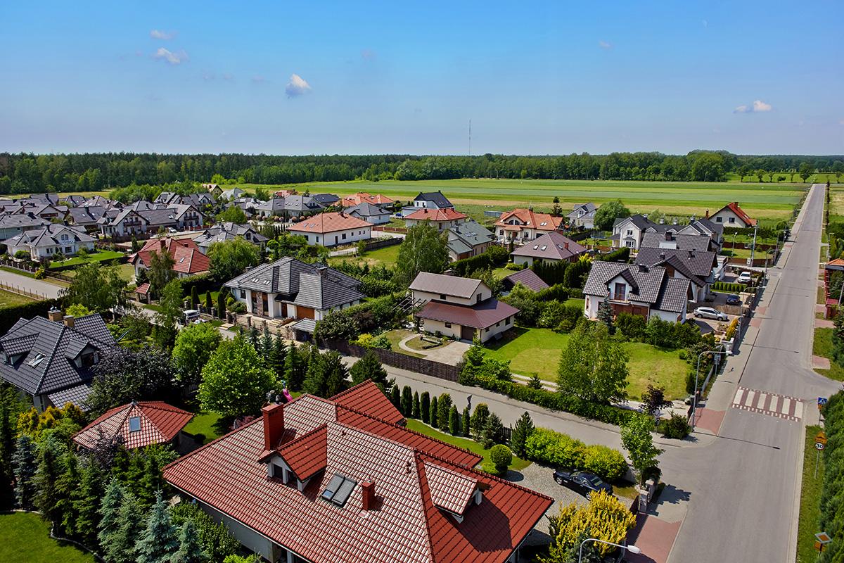Domy w okolicy Warszawy | Widok z lotu ptaka #7