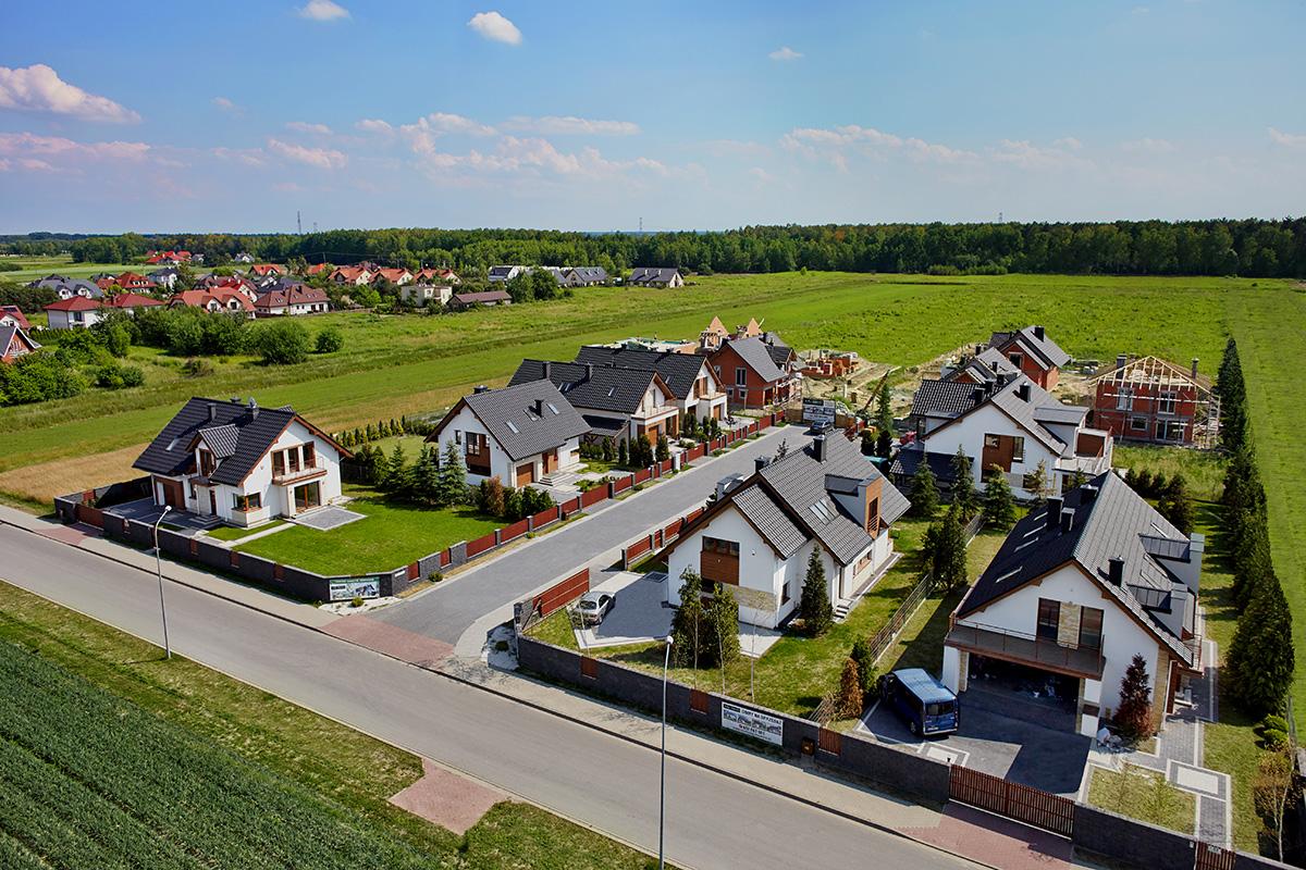 Domy w okolicy Warszawy | Widok z lotu ptaka #8
